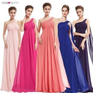 Image 1 - Kleider Für besondere Anlässe EP09816 A linie Einer Schulter Royal Blue Lange Abendkleider 2019 Neue Ankunft Formale Kleider Fit Pergant