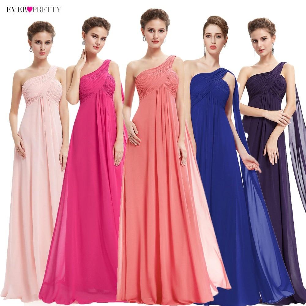 Special Occasion Dresses EP09816 A-line One Shoulder Royal Blue Long Evening Dresses 2019 New Arrival Formal Dresses Fit Pergant