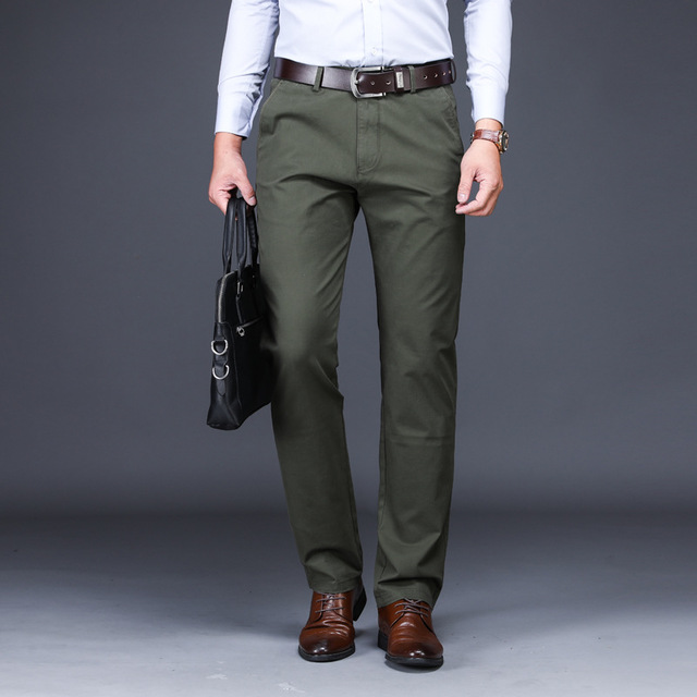 ce37d570318 Dropwow ICPANS Men Suit Pants Length Clasic Men Dress Pants Slim Fit ...