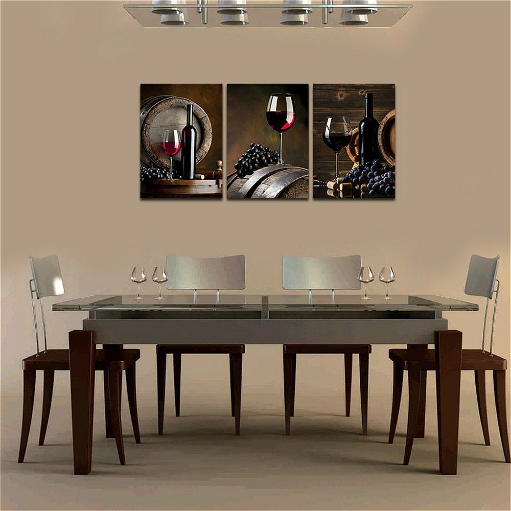 Us 22 61 15 Off 3pc Red Wine Grape Posters And Prints Vintage Home Decorations Canvas Painting For Room Wall Decor Kitchen Piece Framed Wall Art In