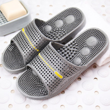 IVI Couples house slippers home female summer slip-resistant at home male plastic bathroom acupoint massage slippers