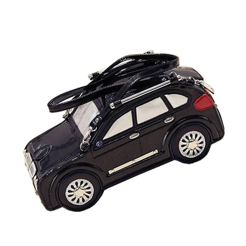 Hot Cool Novelty Beetle Car Shaped Handbag Women Leather Shoulder Messenger Cros
