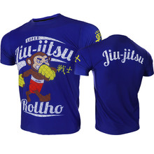 цена на VSZAP Jiu Jitsu Warrior Monkeys Fighting Printed T-shirt Men MMA Fighting Fitness Workout UFC Fight Muay Thai Sanda Tee Shirt
