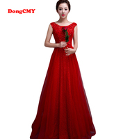 2017 New Arrival Fashion Formal Long Red Color Evening Dress