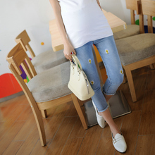 Summer Maternity Jeans Trousers Clothes for Pregnant Women Pregnancy Maternity Casual Maternity Jeans 7 Points Pants B41