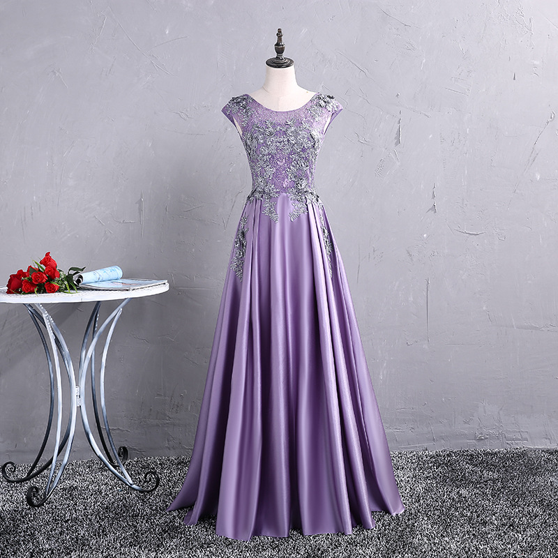 Purple Elegant Long Slim Improved Cheongsam Female Sexy Lace Floral Evening Party Dress Plus Size Qipao XXXL Novelty Vestidos