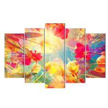 Modular Pictures Wall Art HD Prints 5 Pieces Canvas Painting Flower For Living Room Frame Home Decoration Artwork Poster Abooly