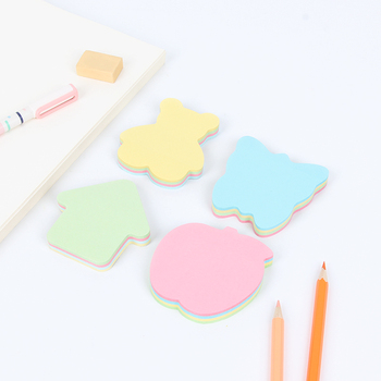 1 pcs Creative Cartoon Personality Variety Shape Sticky memo notes Index Sticky paper N Times Multi-color school office supplies image