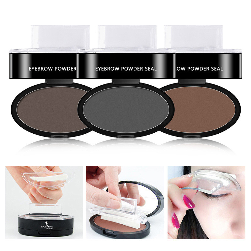 Buy Online Natural Arched Eyebrow Stamp Quick Makeup Brow Stamps Powder  Pallette 9 Options Eyebrow Powder Seal Best Selling Dropshipping ▻ Alitools