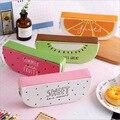 Креативный новый фруктовый школьный студенческий Чехол-карандаш на молнии  сумки для ручек для мальчиков и девочек  подарочные канцелярски...