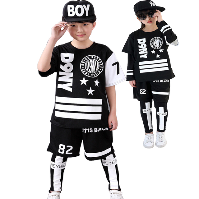 Kids Hip Hop Clothing For Boys Girls Teenage Clothes Set 8 9 10 11 12
