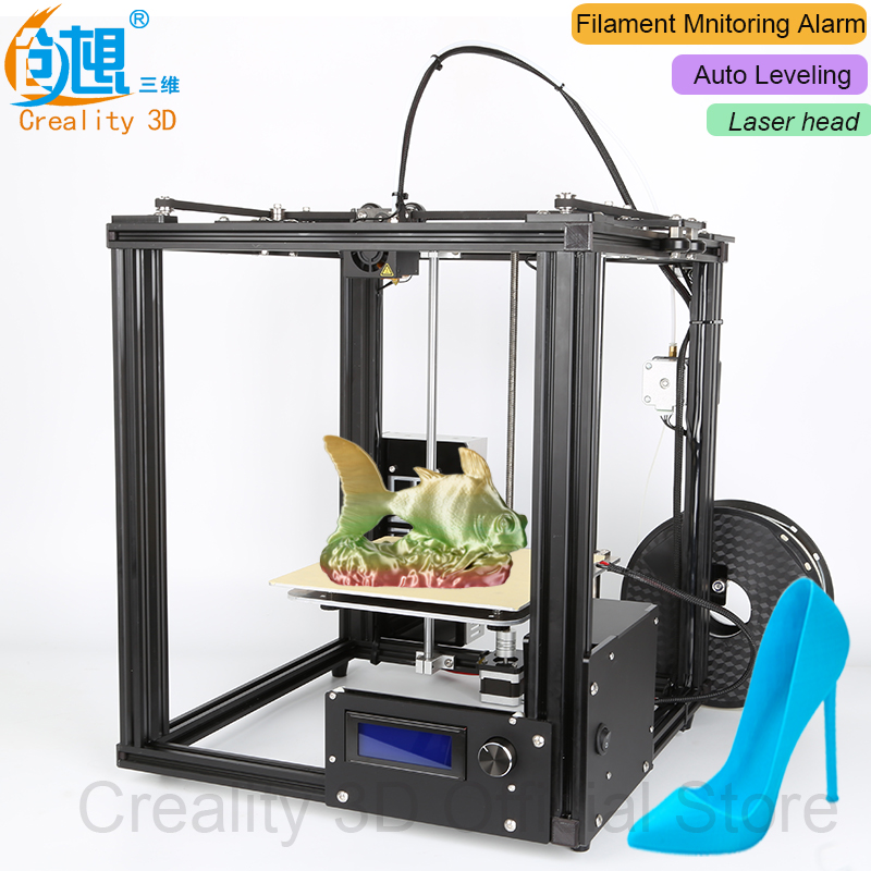 2017 CREALITY 3D Auto Leveling 3D Printer Ender-4 Laser Metal frame 3D Printer Kit Filament Filament Mnitoring ALarm Potection creality cheap ender 2 3d printer kit fdm 3d printer diy kit aluminium frame with heated bed cost effective in high quality