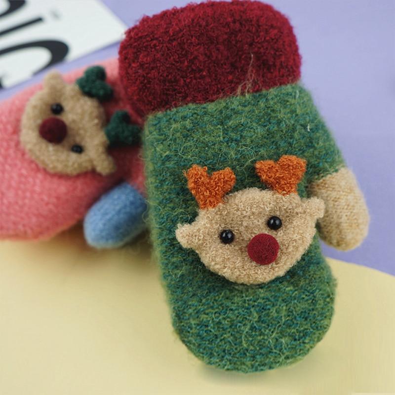 a99ad0741a1 Baby Gloves Winter Warm Thicken Soft Cotton Fleece Toddler Gloves Cute  Cartoon Deer Kids Mittens For Children Christmas Gift Tags