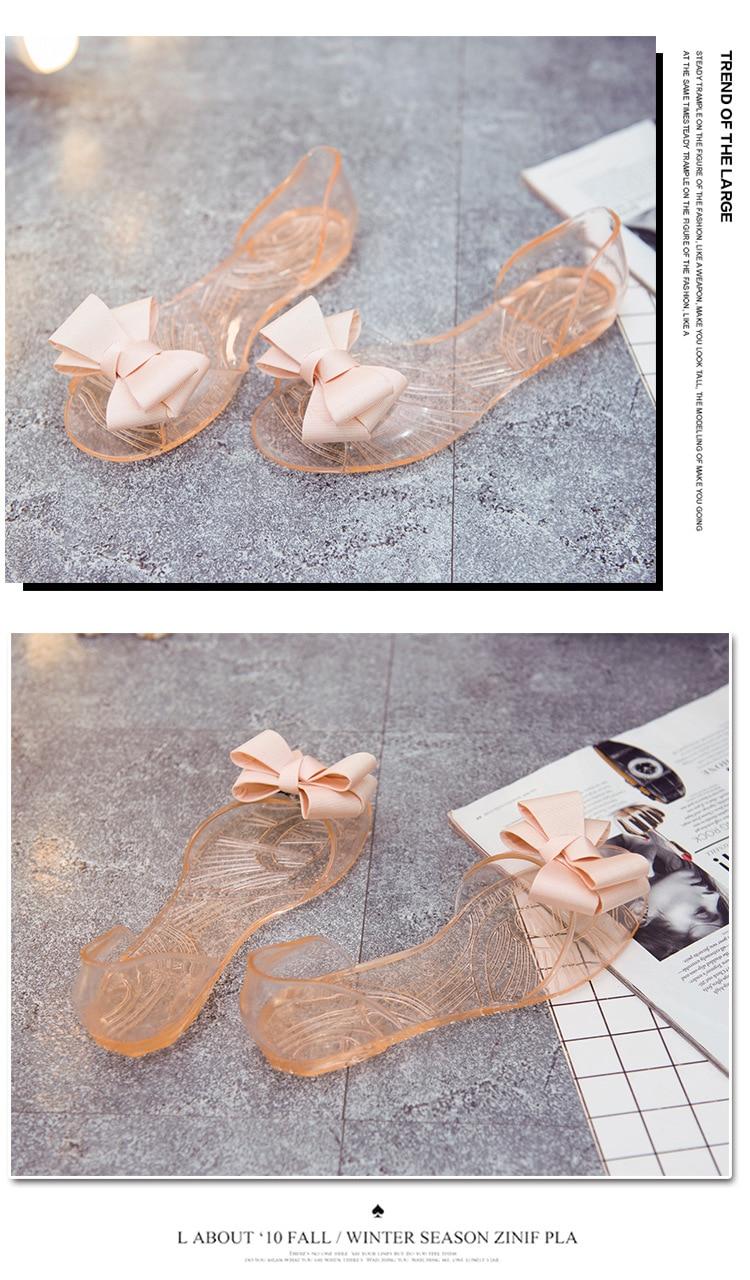 HTB1nfNiaovrK1RjSspcq6zzSXXaW Women Sandals Open Toe Summer Jelly Shoes Woman Fashion Butterfly-knot Flat Sandals Women Beach Shoes Slip On Flip Flops WSH3149