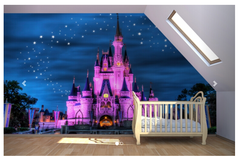 Buy fairytale castle mural wallpaper for for Child mural wallpaper