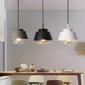Wisiorek LED światła Loft żelaza lampa wisząca Nordic Hanglamp oświetlenie kuchni zawieszenie oprawa salon oświetlenie Avize E27