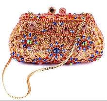 AS16-11 MYO1 Top Fashion Luxury Diamond African Handbag/Purse for Party Wedding