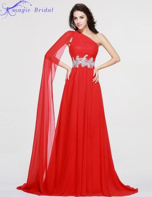 073bd534d Vestidos Largos Para Bodas New Arrivals One Shoulder Red Long Evening Dress  Formal Dress Evening Dresses Robes De Soiree