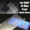 No Fingerprint Frosted Film Tempered Glass Matte Screen Protector for Sony Xperia Z3 Z3 Mini Premium toughend glass for Z3mini