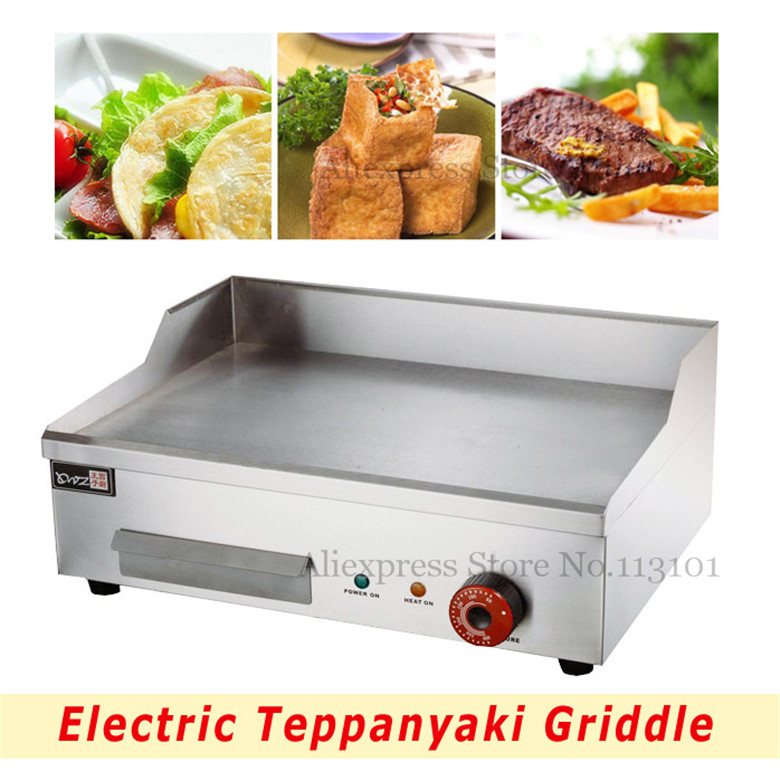 Electric Griddle Commercial Iron Flat Stainless Steel Teppanyaki Maker Iron Flat electric iron ladomir 64k