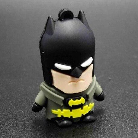 New 3D Cartoon Pen Drive Batman Superhero 512GB Creativo Gift Mini Usb Flash Drive 128GB Disk On Key 64GB Pendrive 32GB 16GB