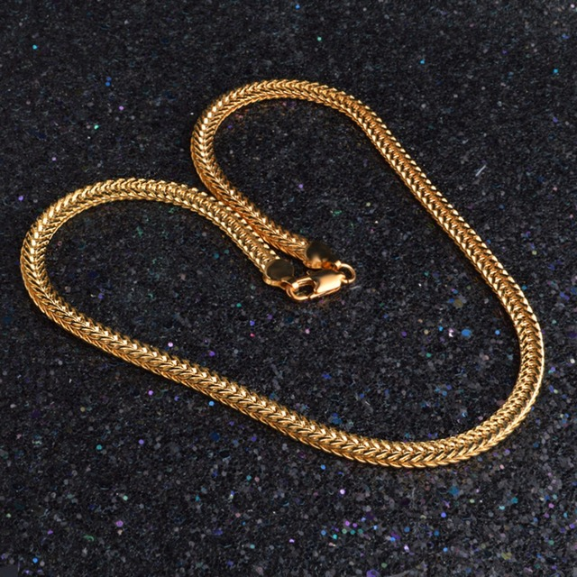 18K Gold Plated Vintage Men's Chain Necklace 3