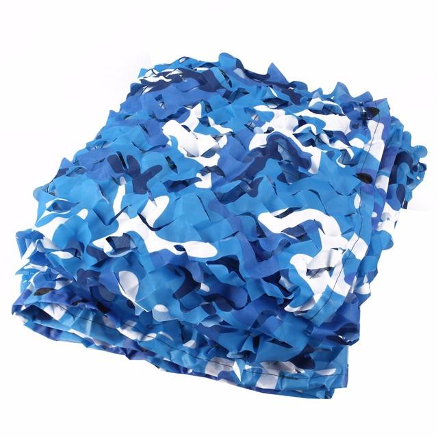 2 M * 2.5 M rede de camuflagem filet azul camo compensação para camping sol praia tarp lona sol abrigo gazebo pérgulas de compensação compensação