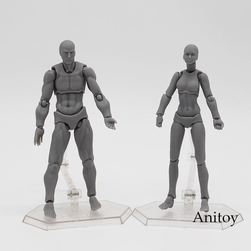 Corpo kun/corpo chan cinza laranja amarelo pvc figura de ação modelo brinquedos 14cm kt3739