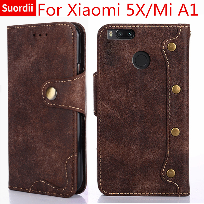 Luxury Case For Xiaomi Mi 5X Mi A1 Book Style Flip Leather Wallet Case For Xiaomi