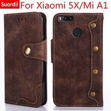 Роскошный чехол для Xiaomi mi 5X mi A1 книга Стиль флип чехол кожаный бумажник Для Сяо mi A1/5X подставка держатель для карт охватывает