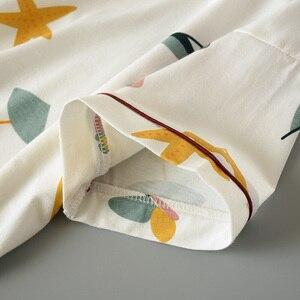 Image 5 - 2019 Summer And Spring Ladies Pajamas Set Women Cute Cartoon Printed Sleepwear Set 2Pcs Short Sleeve+Shorts Full Cotton Homewear