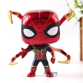 Marvel Avengers Infinity War Iron Spider Vinyl Bobble Head Car Decoration Dolls Spiderman Action Figure Toys with Retail Box