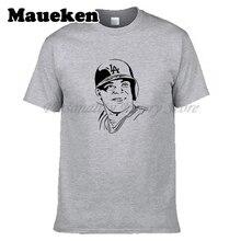 Hommes Los Angeles #66 Yasiel Puig de T-shirt Vêtements T Shirt Hommes pour  Dodgers fans cadeau o-cou tee W0313013