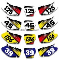 NICECNC Custom Graphics Number Plate Background Decal & Sticker For Honda CRF450 CRF450R 2002 2003 2004 CRF 450 450R
