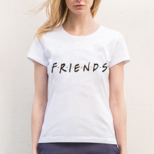 Harajuku Arrival  Friends Shirt Women Summer t shirt Casual Multicolor Pattern Funny Ladies Top Fashion Tee Drop Ship