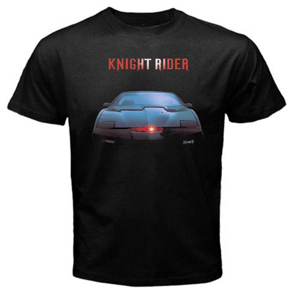 Free shipping 2019 KITT knight rider classic tv series T-Shirt Black Basic Tee Printed t shirt  Men t shirt Casual Tops