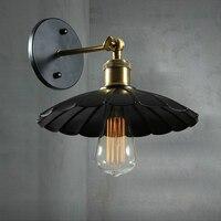 Nova chegada preto lustre do vintage luminárias com edison lâmpada de parede montado ac ferro e27 arandela luz para casa iluminação