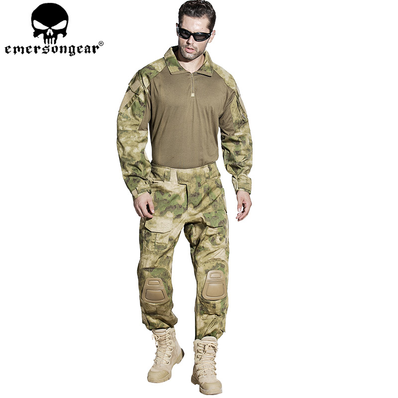 EMERSONGEAR Gen3 Combat T-shirt Military BDU Army Airsoft Tactical Gear Paintball Hunting Shirt A-TACS FG EM8576 emersongear g3 combat shirt pants military bdu army airsoft tactical gear paintball hunting uniform bdu atacs au emerson