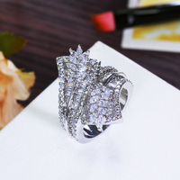 Free shipping luxury big Rings for women setting cubic zircon finger Ring party fashion jewelry high quality new arrivals