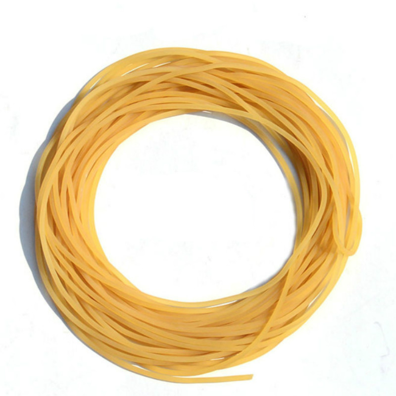 5m Solid Elastic Rubber Fishing Line Diameter 2mm Plain Elastic Fishing Rope Tied Reinforcement Group Strapping Fishing Gear