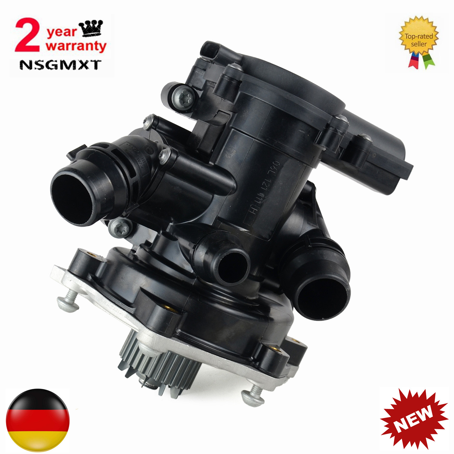 AP01 NEW Electronic Water Pump Thermostat Housing Assembly For <font><b>VW</b></font> <font><b>Golf</b></font> Passat Tiguan image
