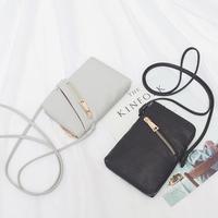 Simple Mini   Bags   Bolsa Femininas PU Leather Messenger   Crossbody     Bag   For Women Small Money Clutch clamp for money card holder