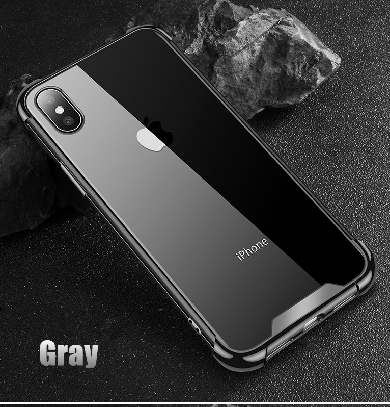 Shockproof 360 Clear Protect Cover for iPhone X Case Soft TPU Hard Plastic Case For iPhone 6s 6 7 8 Plus 5 5s 11 xs max xr Case
