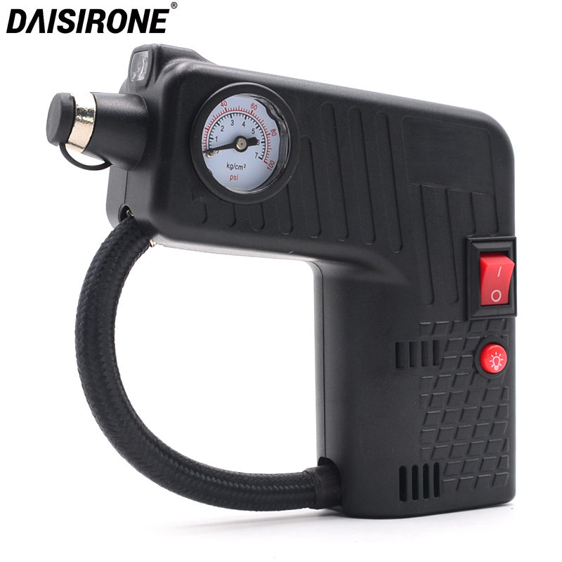 Car Electric Portable Air Compressor Pump Tire Inflator 100 PSI Wheel Tyre Air Pump for Car Motorcycle Bicycle Automobile DC 12V