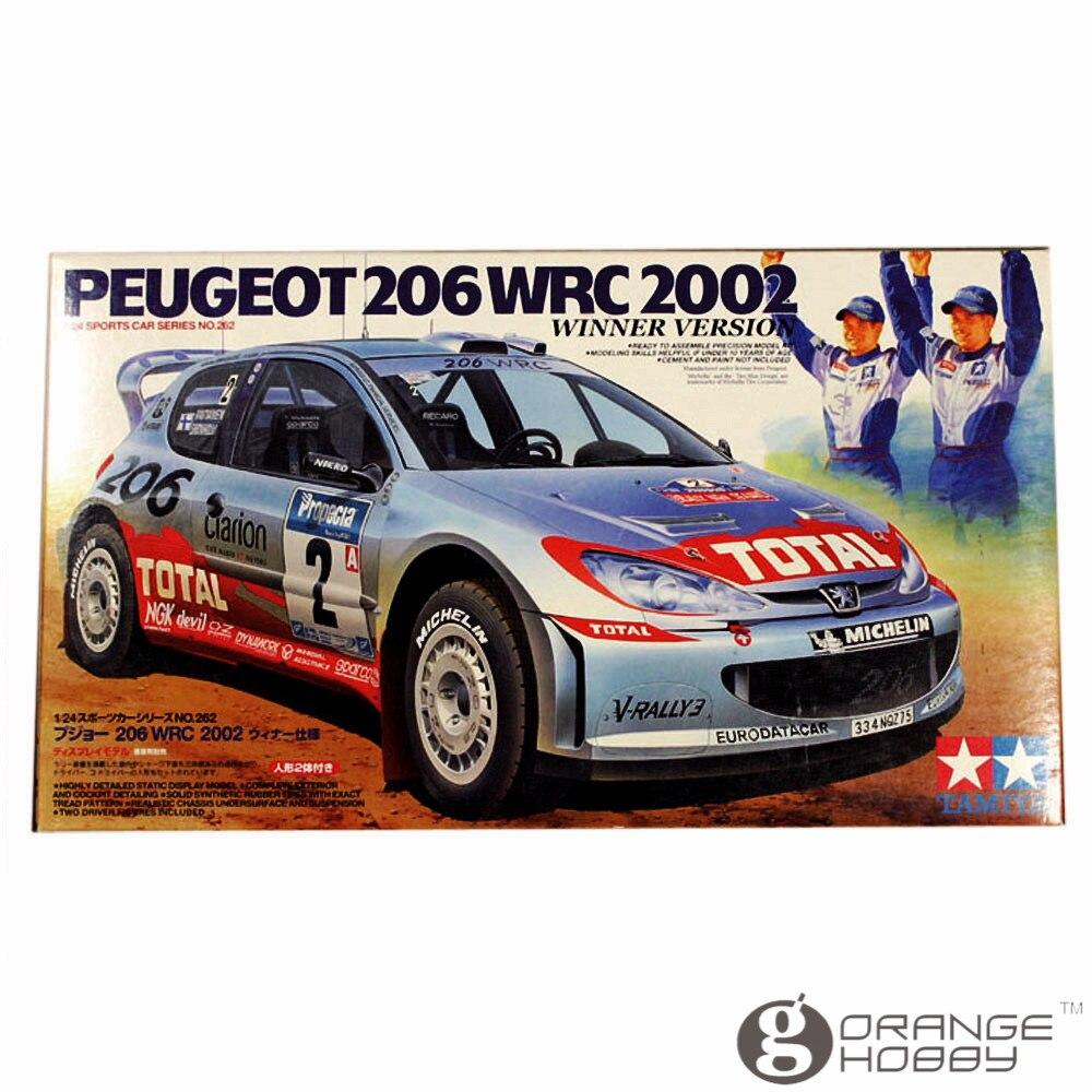 OHS Tamiya 24262 1/24 206 WRC 2002 Winner Version Scale Assembly Car Model Building Kits oh hasegawa model 1 24 scale civil models 20263 focus rs wrc 04 plastic model kit