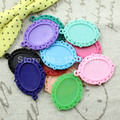 50pcs/lot Resin Cameo/Glass/Cabochon Frame bezel Base Setting, DIY-Accessory Pendant Tray 29x39mm(fit 18x25mm) (K00598)