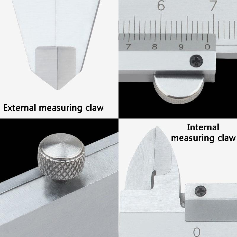 Pied à coulisse 0 500mm 0.02mm haute précision en acier inoxydable Vernier étriers numérique diamètre intérieur et extérieur outil de mesure - 3