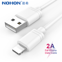 NOHON TPE USB Data Charging Cable Lighting For iPhone X XS MAX XR 8 7 6 6S 5 5s Plus Charge Sync Cord iPad Mini Charger Line
