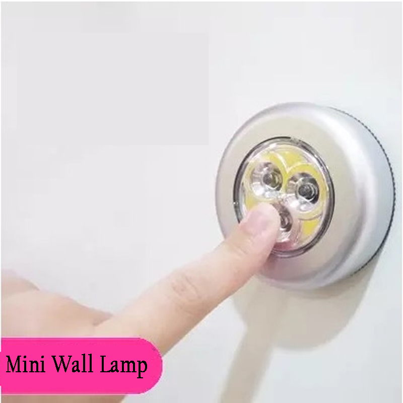 Hearty Mini Wall Light Car Kitchen Cabinet Light 3 Led Wireless Push Touch Lamp High Quality And Inexpensive Furniture Accessories