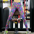 Leggings Mujeres Ropa De Entrenamiento de Fitness Legging Sexy Gothic Print Pant Leggins Tiempo Aventura 2017 Nueva Moda